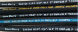 [س100ر2-08] عال ضغطة خرطوم مرنة هيدروليّة مطّاطة زيت خرطوم