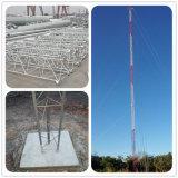 Tipo torre Telecom de poste de la fábrica de China de Guyed de la comunicación de acero