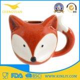 Tasse de café personnalisée par course en céramique de qualité avec la forme de Fox