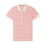 卸し売り方法女性の均一しまのあるポロシャツ