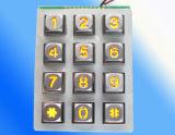 Teclado brilhante K12 da montagem do parafuso prisioneiro do teclado do cromo do teclado do aço inoxidável