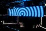 段階の背景幕、催し物のための磁石の速い組合せ適用範囲が広いLEDのカーテン…