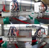 La talla de madera del Tres-Eje de rotación Multi-Utiliza el ranurador del CNC de la carpintería