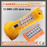 Lampada di scrittorio solare della torcia elettrica 12 SMD LED di 1W LED