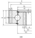HSB. 25.720 기중기를 위한 돌리기 방위 반지