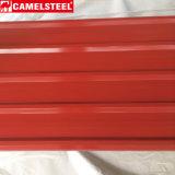 Types des prix de tôle d'acier de feuilles enduites de toiture de couleur