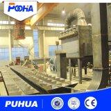 Stanza industriale di brillamento di sabbia con il sistema meccanico automatico di ripristino