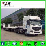 Tri-Axle 50 тонн землечерпалки транспортера низкий кровати трейлер Semi