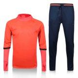 새로운 실제적인 축구 Tracksuit 남자 바지를 가진 2017년 스웨터가 긴 소매 스포츠 훈련 한 벌에 의하여 측정 축구 농담을 한다