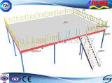 Piattaforma saldata della struttura d'acciaio con la scala (FLM-SP-008)