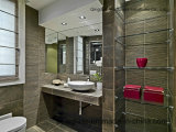 6 полка/шкаф ванной комнаты -12 mm плавая/Tempered стекло