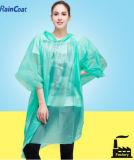 Fördernder moderner Wegwerfregenmantel-Regen-Poncho-Großverkauf populär in Europa