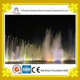 Fontaine de flottement colorée de musique de danse de fontaine d'eau de rivière