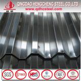 Chapa de aço galvanizada corrugada metal da telhadura do soldado de SGCC JIS G3302