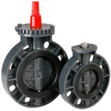 Borboleta PVC Non atuador da válvula DIN
