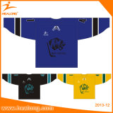Jersey secs d'hockey estampés par Digitals d'ajustement de Healong seuls