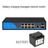 8ge+2SFP de Web Beheerde Schakelaar van het Netwerk met het Laden van de Batterij Functie