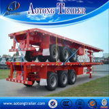 China Manufacture 40ft Skeleton Trailer/Flat Bed Semi Trailer