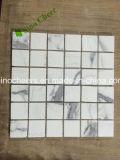 Azulejo blanco de mármol italiano importado de piedra del hexágono de Calacatta del azulejo de mosaico de la naturaleza