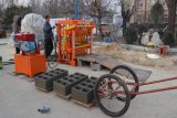Máquina de fabricação de blocos oco com motor a diesel hidráulico pequeno Qt4-40