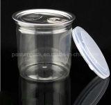 choc en plastique de conditionnement des aliments 450ml avec le couvercle en aluminium d'Eoe (PPC-FSZD-009)
