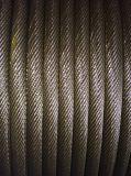 Веревочка стального провода 36X7+Iws Ungalvanized анти- вращая