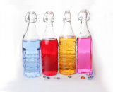 Bottiglie di vetro 1000ml dell'olio variopinto con la parte superiore dell'oscillazione