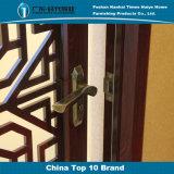 중국 작풍 샌들 목제 곡물 알루미늄 장식적인 여닫이 창 문