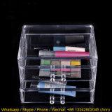 2 cassetti rimuovono la casella di memoria cosmetica acrilica dei monili