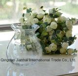 Vase en verre transparent à Étroit-Collet sphérique pour la fleur