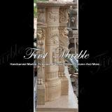Bordi di pietra di marmo Mfp-513 del camino dell'indicatore luminoso dell'oro del deserto del granito