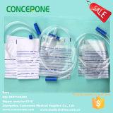 Il sacchetto adulto 2000ml dell'urina con Tirare-Spinge la valvola, la valvola di torsione, valvola di T