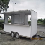 Carrello dell'alimento di China Mobile del rullo fritto hamburger su ordinazione del gelato del motociclo di Supportingg per piccolo Bussiness