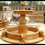 Fontaine en pierre de marbre Mf-335 d'or de Ny de granit de découpage et de sculpture