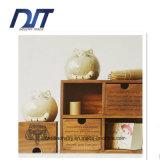 Чисто деревянная ручной работы коробка хранения ящика 4 случаев
