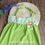 Non Sleeve Green Trapeze Dress per Clothing del Girl