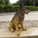 Grande decorazione del mestiere del cane della resina a grandezza naturale
