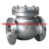 Valvola di ritenuta della Cina della flangia dell'acciaio inossidabile dell'oscillazione (H44W)