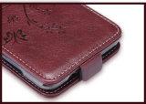 Caisse en cuir pour le sac de pochette de pouce de couverture de chiquenaude de Leagoo M5