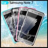Smartphone Mobiltelefon-Tasten-erhältliche voll gedichtet Anti-Löschen wasserdichten Kasten für Handy der Samsung-Galaxie-Anmerkungs-7