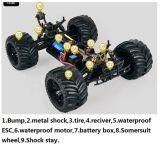 Camion de monstre sans frottoir du véhicule 4WD de l'échelle RC de 1h10