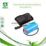 Paquete de la batería de Icr18650 7.4V 2600mAh para las luces al aire libre