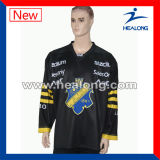 Transpirable digital impresión de la sublimación personalizada equipo de hockey jerseys