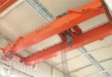 Кран двойного прогона надземный с пользой стальной структуры машинного оборудования электрической лебедки поднимаясь