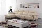 Sofá de la sala de estar con el sofá moderno del cuero genuino fijado (423)