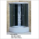 Cabine completa do quarto de chuveiro do perfil de Chrom com seis jatos/bocais