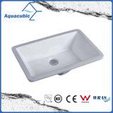 Banheiro Bacia de cerâmica com lavatório quadrado Undermount (AB016)