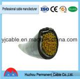 Fio elétrico preto Kvv do cabo de controle do revestimento 5cores 5*2.5mm2 do PVC