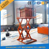 2t Warehouse Cargo Stationary Hydraulic Scissor Lift