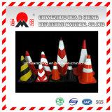 Señal de tráfico para la seguridad reflexiva Advertencia de la calle Conos de estacionamiento